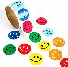 Lezed Bunt Smiley Aufkleber Rundschreiben Lächeln