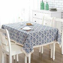 LF&F EuropäIschen Stil Blau Retro Blumenmuster