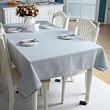 LF&F Hochwertige Baumwolle & Leinen Tischdecke