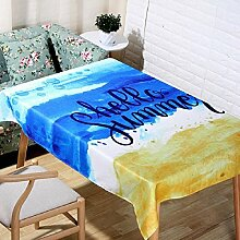 LF&F Tablecloth Tischdecke EuropäEr Sommerstrand ModemöBel Tischtuch Einfaches Bedrucken TischtüCher Couchtisch Tuch Universelle Tischdecke Geeignet FüR Outdoor Outdoor Picknick Party TischdeckeA90*140cm