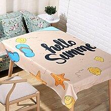 LF&F Tablecloth Tischdecke EuropäEr Sommerstrand