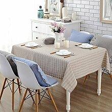LF&F Tablecloth Tischdecke EuropäIsche Hochwertige Baumwolle Tischdecke Couchtisch Tuch Mehrzweck Rechteckige MaschinenwäSche Abendessen Sommer Und Picknick TischdeckeA140*200cm
