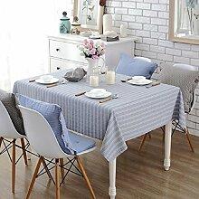 LF&F Tablecloth Tischdecke EuropäIsche Hochwertige Baumwolle Tischdecke Couchtisch Tuch Mehrzweck Rechteckige MaschinenwäSche Abendessen Sommer Und Picknick TischdeckeC140*200cm