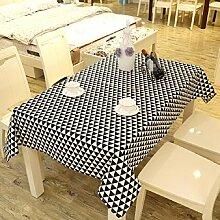 LF&F Tablecloth Tischdecke EuropäIschen Stil Retro Leinen Tischdecke Couchtisch Tuch Haus Hotel Dekoration Tischdecke Mehrzweck Outdoor Picknick TischdeckeF70*70cm(2pcs)