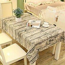 LF&F Tablecloth Tischdecke EuropäIsches Leinen Rechteckige Tischdecken Staubtisch Tuch Hauptdekoration Deckel Tuch Couchtisch Tuch Mehrzweck Garten Garten Picknick TischdeckeC140*250cm