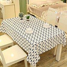 LF&F Tablecloth Tischdecke EuropäIsches Leinen Rechteckige Tischdecken Staubtisch Tuch Hauptdekoration Deckel Tuch Couchtisch Tuch Mehrzweck Garten Garten Picknick TischdeckeG140*180cm