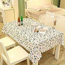 LF&F Tablecloth Tischdecke EuropäIsches Leinen Rechteckige Tischdecken Staubtisch Tuch Hauptdekoration Deckel Tuch Couchtisch Tuch Mehrzweck Garten Garten Picknick TischdeckeE140*250cm