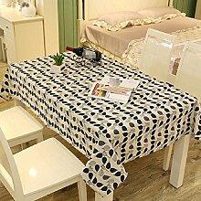 LF&F Tablecloth Tischdecke EuropäIsches Leinen Rechteckige Tischdecken Staubtisch Tuch Hauptdekoration Deckel Tuch Couchtisch Tuch Mehrzweck Garten Garten Picknick TischdeckeF120*160cm