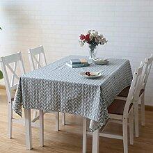 LF&F Tablecloth Tischdecke Luxus Baumwolle BettwäSche TischtüCher Couchtisch Tuch Nachttische KüHlschräNke Und HandtüCher Multifunktionale Heimtextilien Tischdecke Kann Gewaschen Werden Anti-FoulingA140*200cm