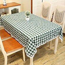 LF&F Tablecloth Tischdecke Luxus Leinen Spitze Haus Gartendekoration Tischdecke Staub Tuch Universal Handtuch Geeignet FüR Casual Dining Haus Restaurant Café Hotel PartyA130*180cm