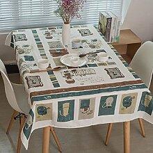 LF&F Tischdecke Leinen Und Baumwollmaterial KüChe Casual Dining Tischdecke Couchtisch Tuch Hotel Tischdecke Rechteckig Resistent Universelle Tischdecke Geeignet FüR Schreibtisch TV-Schrank A 60*60cm(2pcs)