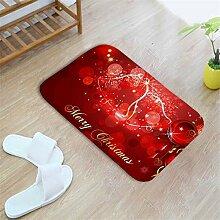 LFDDT Weihnachten Fußmatten Indoor Saugfähigen