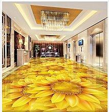 lfgong 3D Stereoscopic Tapete Boden Sonnenblumen