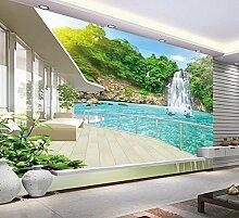 Lfgong Tapete 3D Wallpaper Für Zimmer Balkon