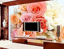 Lfgong Tapete 3D Wallpaper Für Zimmer Rosa