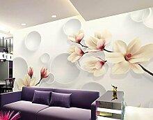 Lfgong Tapete Wallpaper 3D Blume Orchidee Garten