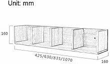 Lfixhssf Wandregal Wandmontage Massivholz Einfache