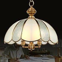 LFNRR American Kupfer Lampe Kronleuchter Kronleuchter im Restaurant drei europäischen Minimalistische Beleuchtung im Speisesaal Kronleuchter Qualitativ hochwertige Produkte mit hoher Qualitä