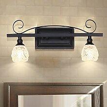 lfnrr amerikanischen Spiegel Lampe Bad Badezimmer Rustikal eisen Retro Wand Wandleuchte LED Spiegelleuchte in anti-cristallo Modern und einfach die Beste Qualität A