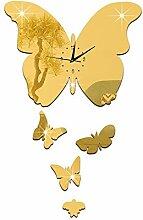 LFNRR DIY Kreativität kann entfernen Zhong Hudie Princess spiegel Wecker stumm Wc 1288, Goldener Schnitt eingerichte