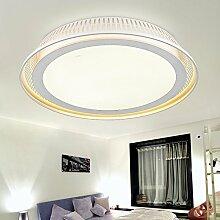 LFNRR Einfacher Stil LED Deckenleuchte rund Acryl Schlafzimmer Lampe Deckenleuchte