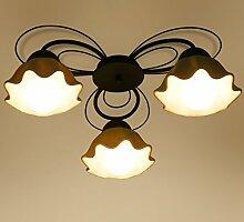 LFNRR Einfacher Stil US geführte Lampe Schlafzimmer modern minimalistischen Wohnzimmer Deckenleuchte Drei LED Lampen gesende