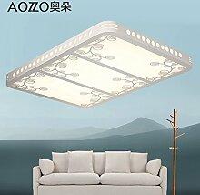 LFNRR Einfacher Stil Wohnzimmer Deckenleuchte führte Quadrat moderne minimalistische Atmosphäre Schlafzimmer Lampe Kristall Leuchten Decken Lampen