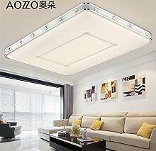 LFNRR Einfacher Stil Wohnzimmer rechteckigen Kronleuchter Deckenleuchte led Deckenleuchte Lampe Schlafzimmer moderne minimalistische stufenlose Lichtdecke