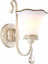 lfnrr Europäischen Stil Wand Lampe Schlafzimmer einfach und modisch Nachttischlampe Spiegel-Wand-Lampe Flur-Lampe Beleuchtung der Korridor Die beste Qualitä