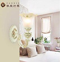 lfnrr Harz Europäischen Wohnzimmer Luxus Restaurant Lampe Wand Lampe Wandleuchte Lampe Nachttischlampe retro Maßstab Wohnzimmer TV Wand die beste Qualitä