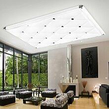 LFNRR Hochwertige Deckenleuchte LED LED Lampe Schlafzimmer Wohnzimmer Lampe moderne, minimalistische Leuchte rechteckige Acryl Aluminium Deckenleuchte, 100* 65 120 W LED