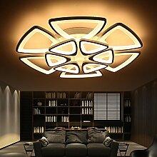 LFNRR Hochwertige LED-Deckenleuchten moderne, minimalistische Persönlichkeiten aus Acryl runden Raum mit Fernbedienung Wohnzimmer Beleuchtung Lampe Beleuchtung, Monochrom, 6 Kopf 121 W