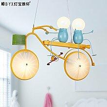 Lfnrr Hochwertige Personalisierte Bike Kinder Pendelleuchte Schlafzimmer Junge Zimmer Lampe Modernen Minimalistischen Cartoon Kreative Led-Lampe