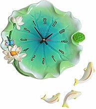 LFNRR Kreative garten Wohnzimmer Schlafzimmer ruhig Blätter Uhr Uhr Schöne Dekoration