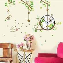 LFNRR Kreative kinderzimmer wohnzimmer schlafzimmer Mode clock clock clock wall sticker Stummelegante Schöne Dekoration