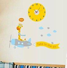 LFNRR Kreative Mode clock clock clock mute Kinderzimmer wohnzimmer schlafzimmer wand aufkleberDer kleine Hirsch Schöne Dekoration