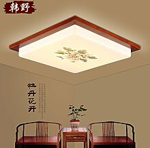 LFNRR LED Deckenleuchte Schlafzimmer chinesische Lampe ist warmes Zimmer Massivholz Schlafzimmer Auge chinesische Decke Platz