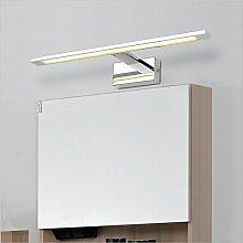 LFNRR Led Edelstahl Badezimmerschrank Spiegel Spiegel Lampe Lampe Badezimmer Schmink- Dresser Spiegellampe Toilette WC-Spiegellampe 14W / 58cm warmes Lich