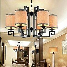 LFNRR neue Chinesische dekorative Lampe Kronleuchter Wohnzimmer chinesischen Lampen Schlafzimmer den Restaurant Kronleuchter Lampe arbeitet die Studie 6.