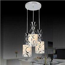 LFNRR Neueste Stile Restaurant, modern und schlicht Kristall Kronleuchter kreativen drei-Leiter-Esszimmer Tisch Esszimmer Lampen 25 * 100CM