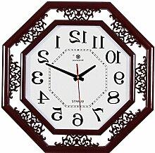 LFNRR Platz Einseitige Uhr stumm das Wohnzimmer4 Uhr Schöne Dekoration