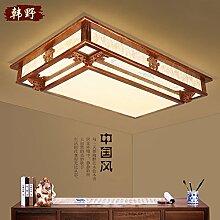 LFNRR Rechteckige traditionelle Massivholz klassischen chinesischen Stil Deckenleuchte Schlafzimmer Wohnzimmer Beleuchtung Lampe Deckenlampe im chinesischen Stil Lampen