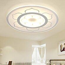 LFNRR Rundschreiben Rundschreiben Deckenleuchten Deckenleuchten moderne, minimalistische Acryl Farbe Lotus lampe Durchmesser 600 mm Interne und externe Erwärmung