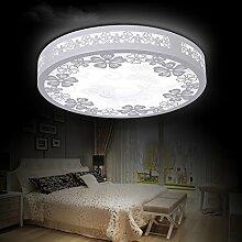 LFNRR Stile LED Deckenleuchte geschnitzten Schlafzimmer studie Lampe,30cm