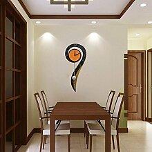 LFNRR Stilvolle Uhr einfach ultra leise Wohnzimmer Uhren auspicious Bell Schöne Dekoration