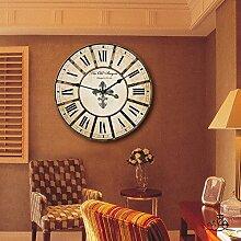LFNRR Stummschalten der kontinentalen retro Uhren Dorf Schautafeln Schöne Dekoration
