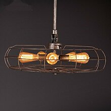 LFNRR Vintage industrial wind Ventilator Kronleuchter dekorative Beleuchtung American Iron Bars Cafes 65cm Qualitativ hochwertige Produkte mit hoher Qualitä