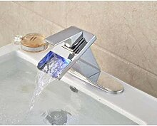 LFTS Wasserhahn Bad Wasserfall Düse Waschbecken