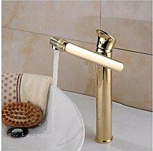 LFTS Wasserhahn Gold mit Vintage Spray Messing