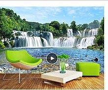 LFVGUIOP Fototapete, Landschaft, 3D-Wasserfall,